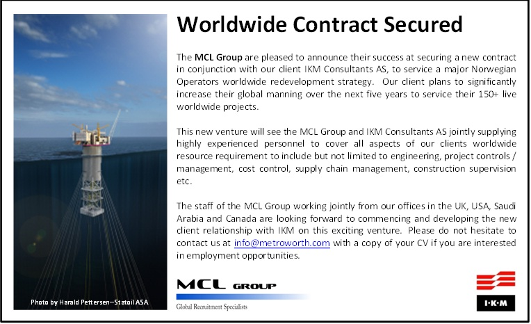 MCL - Worldwide Contract Secured